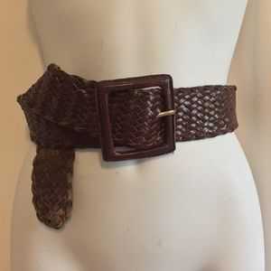 Banana Republic Belt size S Brown Braided Leather